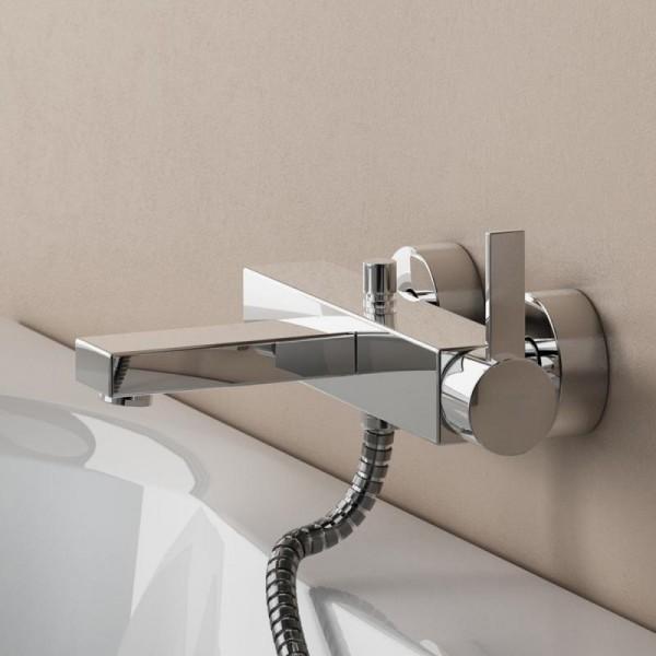 """Steinberg Серия 120 Смеситель однорычажный для ванны/душа 1/2"""" с керамическим картриджом,с переключателем, с защитой от обратного потока, хром 120 1100"""