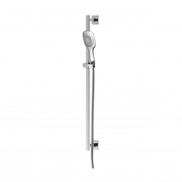Steinberg Серия 120 Душевой гарнитур со штангой 900мм, c ручным душем 3-х функциональный, с металлическим шлангом 1800мм, хром 120 1621
