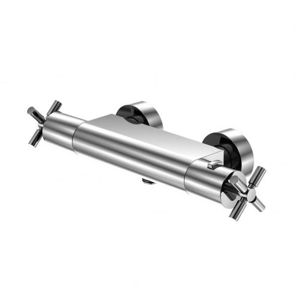 """Steinberg Серия 250 Термостат для душа, настенный 1/2"""", с регулировкой температуры и расхода воды, с защитой от обратного потока, хром 250 3200"""
