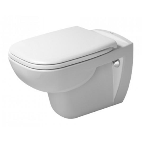 Унитаз подвесной Duravit D-Code с сиденьем с микролифтом, белый/хром 253509 00 002 + 006739 00 00