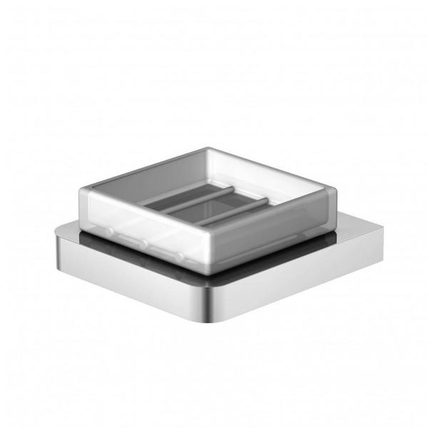 Steinberg Серия 420 Мыльница настенная, белое сатин. стекло, хром 420 2201