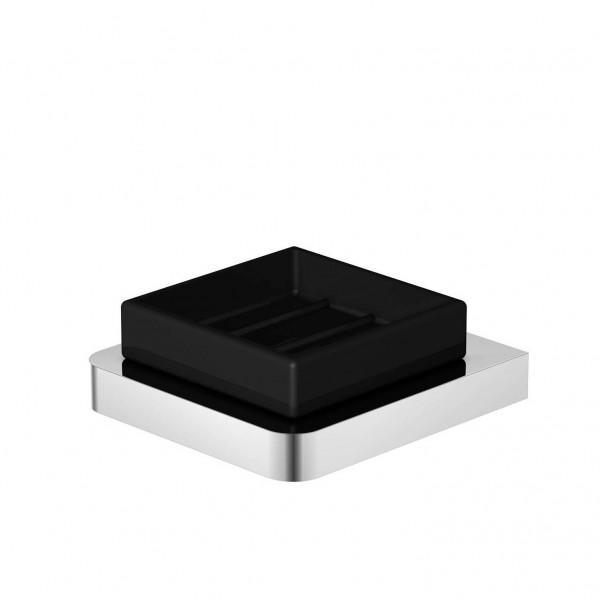 Steinberg Серия 420 Мыльница настенная, чёрное сатин. стекло, хром 420 2202