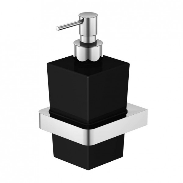 Steinberg Серия 420 Дозатор для мыла, чёрное сатин. стекло, хром 420 8002