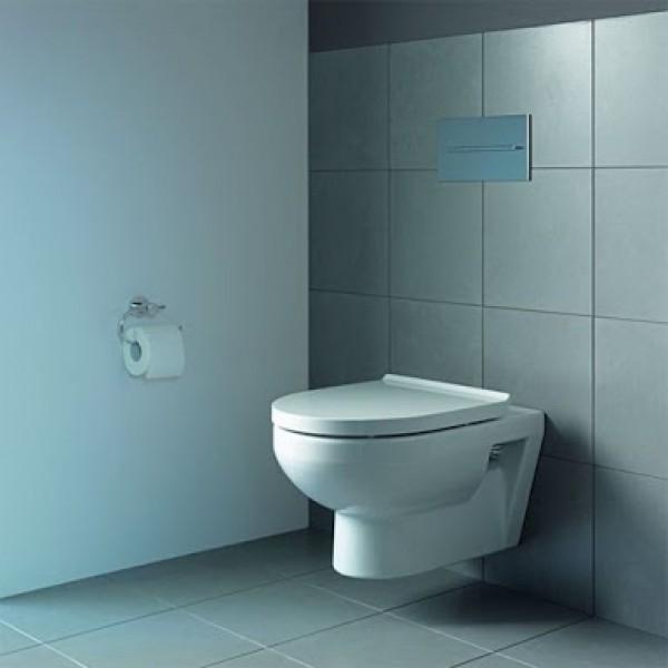 Унитаз подвесной Duravit DuraStyle Basic Rimless безободковый с сиденьем с микролифтом, белый/хром 45620900A1