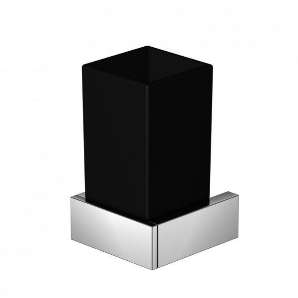 Steinberg Серия 460 Стаканчик с с держателем 70 х 70 х 120мм, из латуни, чёрное сатин. стекло, хром 460 2002