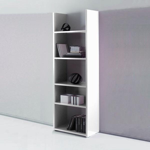 Книжный шкаф STURM Puzzle 560x290x1840, цвет белый глянцевый JPUZ5601