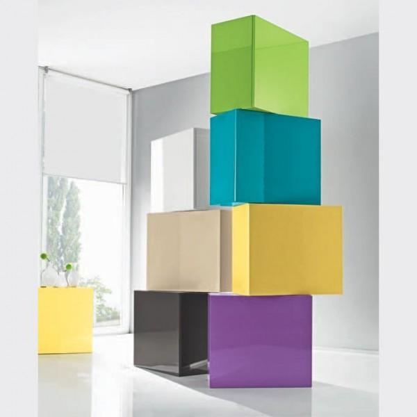 Шкаф-куб подвесной закрытый STURM Puzzle 570x310x510, цвет бежевый глянцевый IPUZ5703