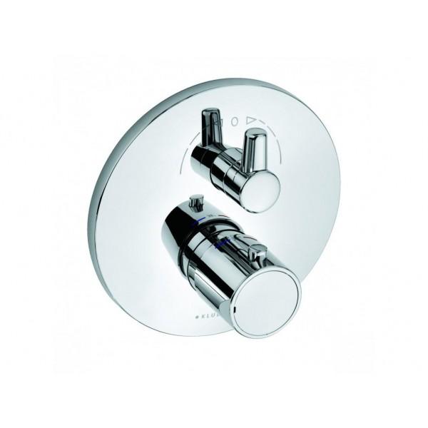 KLUDI O-Cean (Zenta) 388300545 (к 88011) хром Смеситель для ванны с термостатом встраиваемый (внешняя часть + функциональный элемент)