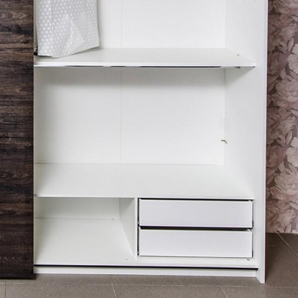 STURM Fusion дополнительная опция: внутренний комод для шкафа-купе 710x410x400 с двумя выдвижными ящиками цвет белый PFUS7101