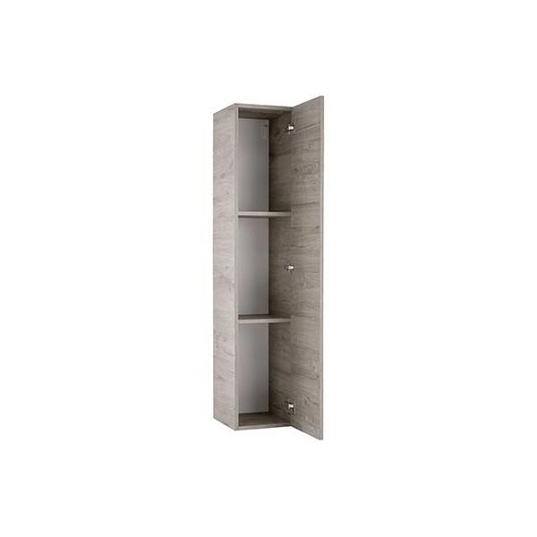 Навесной шкаф STURM Puzzle с дверцей и с полками 290x310x1390, цвет серый дуб HPUZ2955