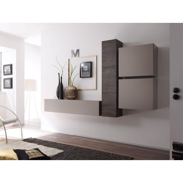 Навесной шкаф STURM Puzzle с дверцей и с полками 290x310x1390, цвет дуб wenge HPUZ2956