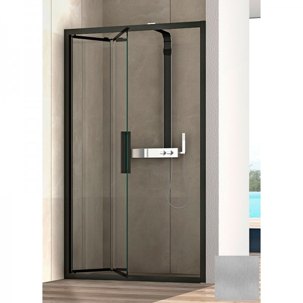 Складная дверь в нишу STURM Lybre 1500x2000мм стекло - прозрачное, профиль - scotch brite LRP2IR14791TR