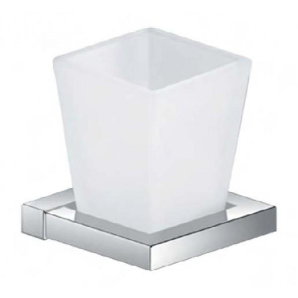 Стаканчик для зубных щёток STURM Cube, хром, LUX-CUBE110-CR