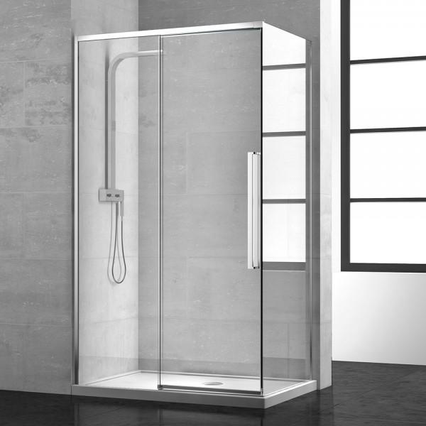 Дверь для душевого ограждения STURM PDP-line New Generation Left 160х200 см раздвижная, прозрачное стекло. Argento Lucido NGP7IS15830TR