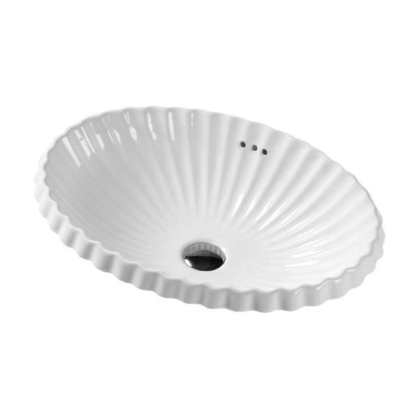 Раковина встраиваемая STURM Shell 58x42 см, белая ST-SH525820-NBNCR