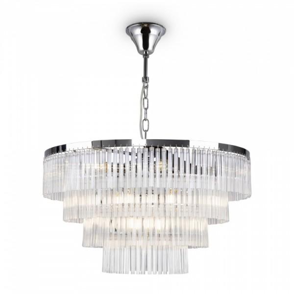 Светильник подвесной STURM Teseo, 59x54/131 см, 13*E14 40W max, хром/прозрачный, STL-TES063642