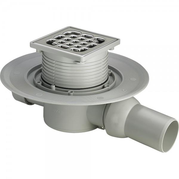 Комплект: Душевой трап STURM SVG  с решеткой 100х100 и сифоном SVG-ADV60119-CR