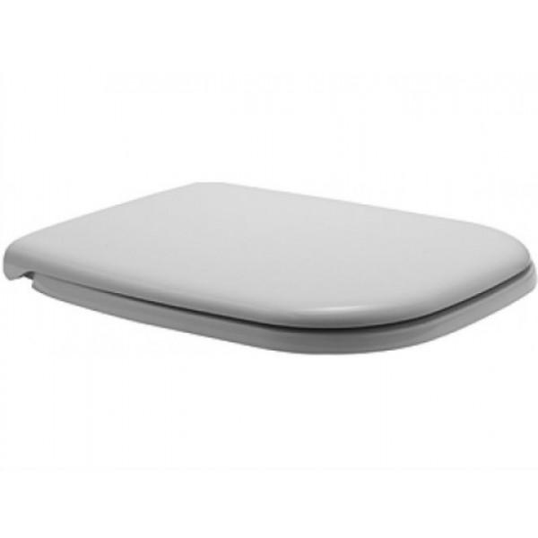 Сиденье для унитаза Duravit D-Code с микролифтом, белое/хром 006739 00 00