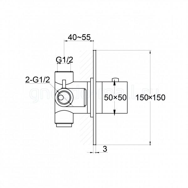 Steinberg Серия 016, Скрытый корпус  к встраиваемому термостату 016 4200