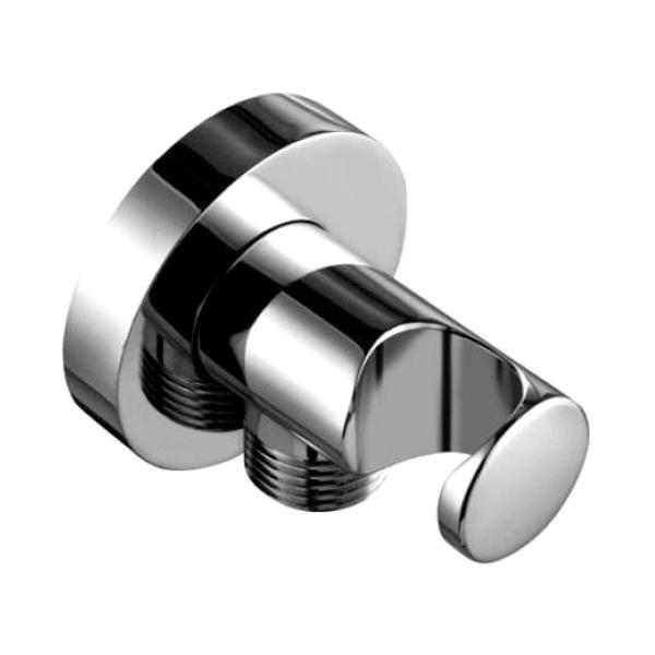 Соединение для шланга Kludi из стены (G1/2) с держателем ручного душа защитой от обратного тока воды, хром 60.547.05-00