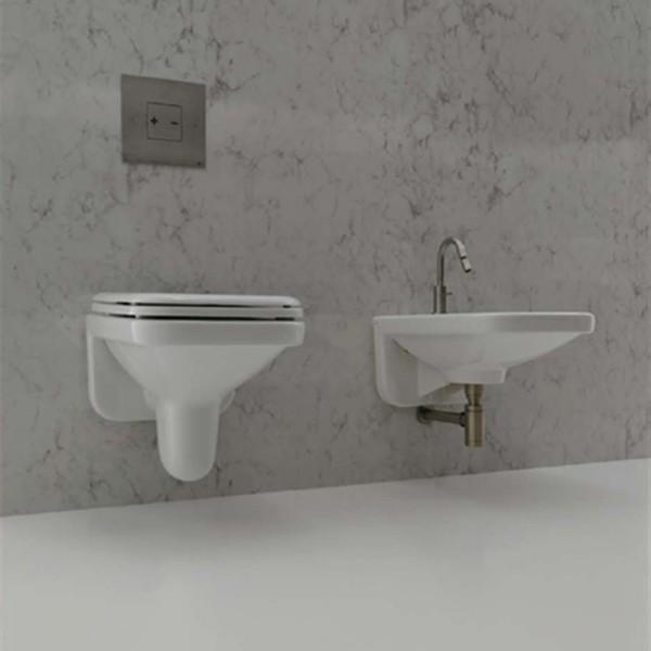 Комплект AXA Moss: биде подвесное, унитаз подвесной, сиденье без микролифта, белый 2102001-2101001-AA2101