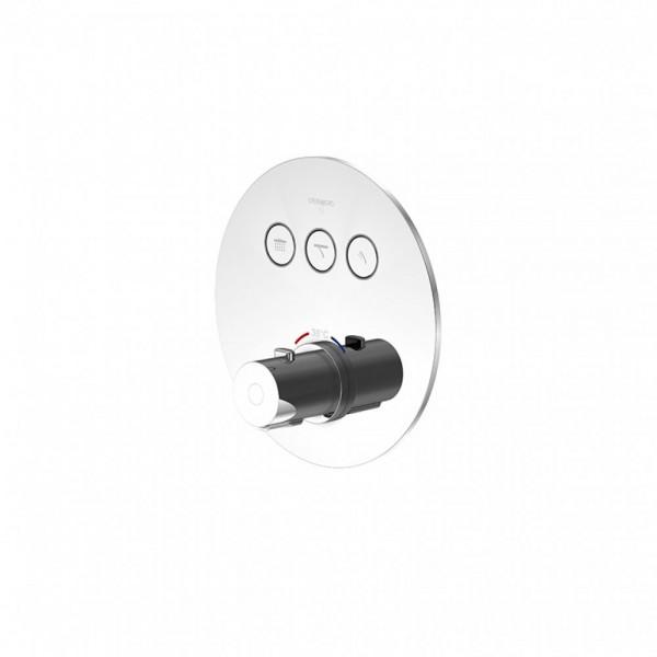 Термостатический смеситель Steinberg 390 встраиваемый с кнопками переключения на 3 потребителя, с регулировкой температуры воды, хром 390 4331