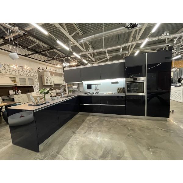 Комплект кухонной мебели с островом Lube Clover, цвет серый, 49327