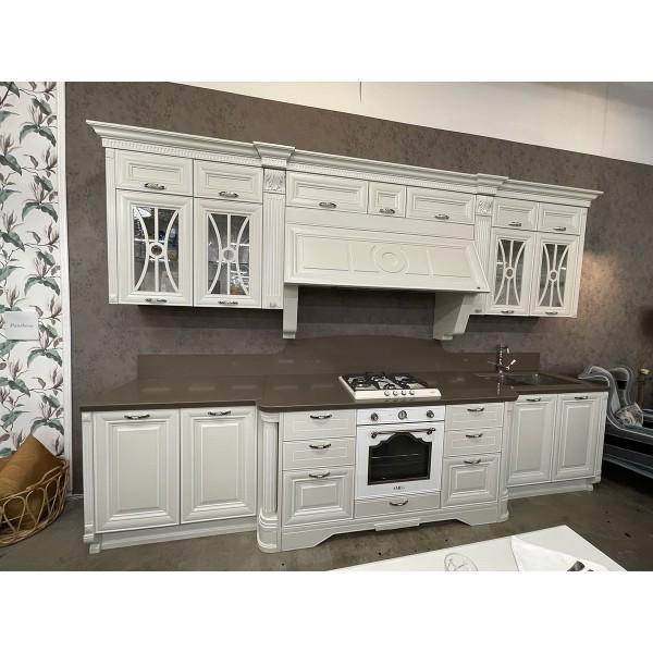 Комплект кухонной мебели с островом Lube Pantheon, цвет белый, 49450/2