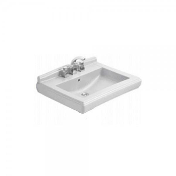 Раковина подвесная Villeroy & Boch Hommage 75х58 см с 3 отверстиями под смеситель, альпийский белый CeramicPlus 7101A1R1