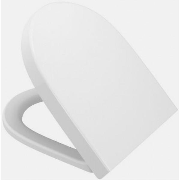 Сиденье для унитаза Vitra Options Sento с микролифтом, белое/хром 86-003-009