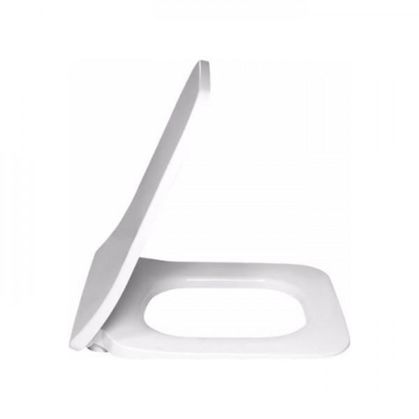 Сиденье для унитаза Villeroy & Boch Legato, SlimSeat, с микролифтом легкосъемное, альпийский белый, нержавеющей стали, 9M95S101