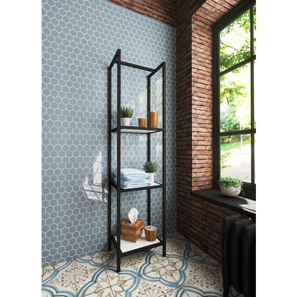 Кованый стеллаж Comfort Loft 400х300х1600мм черный ФР-00003670