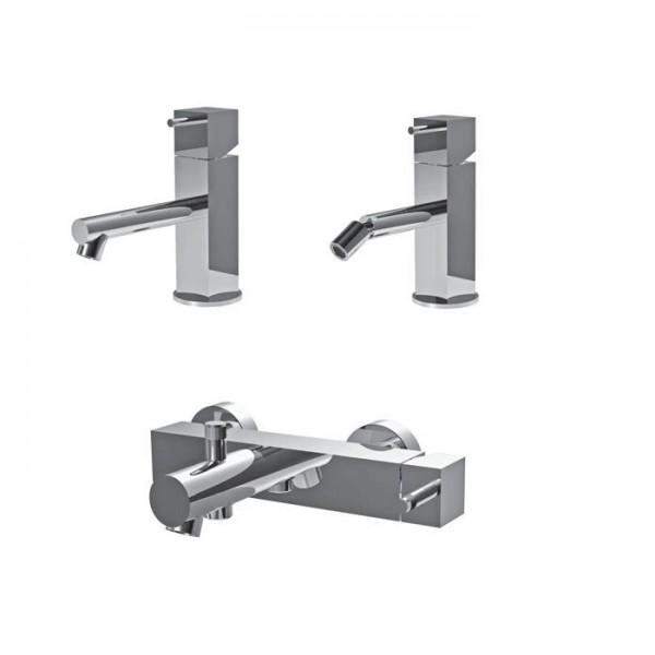 КОМБО №15 Комплект смесителей Ritmonio Latoperlato для раковины, для биде и для ванны/душа T0BA7021CRL + T0BA7020CRL + T0BA7030CRL