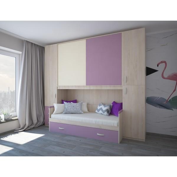 Комплект мебели для двух детей STURM Mickey, 300х92/58х259, вяз-кварц-натуральный, XMICKE30024