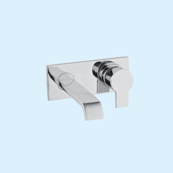 Смеситель для ванны Vitra Diagon, встраиваемый, на 2 отверстия из стены, излив 186 мм, внешняя часть, хром, A42235EXP