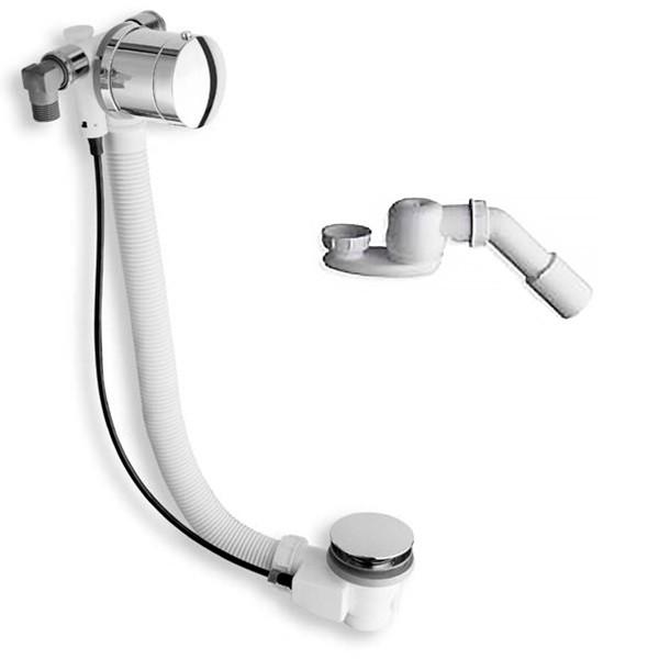 Слив/перелив STURM Mod. А6 для ванны с функцией наполнения D=52 мм L=80+10 см (в компл. сифон с отводом D 40/50 мм), состаренная бронза A6 4 21 59 92