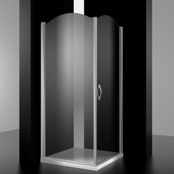 Душевое ограждение STURM Burg Right 1000х1000х1950/2050 прозрачные стекла. Хром LUX-BURG1010-RTRCR