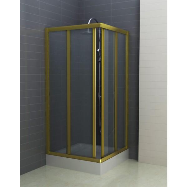 Душевое ограждение STURM Charm 900х900х1950 прозрачные стекла. Золото ST-CHAR0909-NTRGL