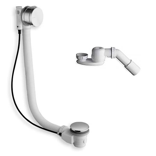 Слив/перелив STURM Mod. D6 для ванны с функцией наполнения D=52 мм L=80+10 см (в компл. сифон с отводом D 40/50 мм), хром D6 4 16 59 51