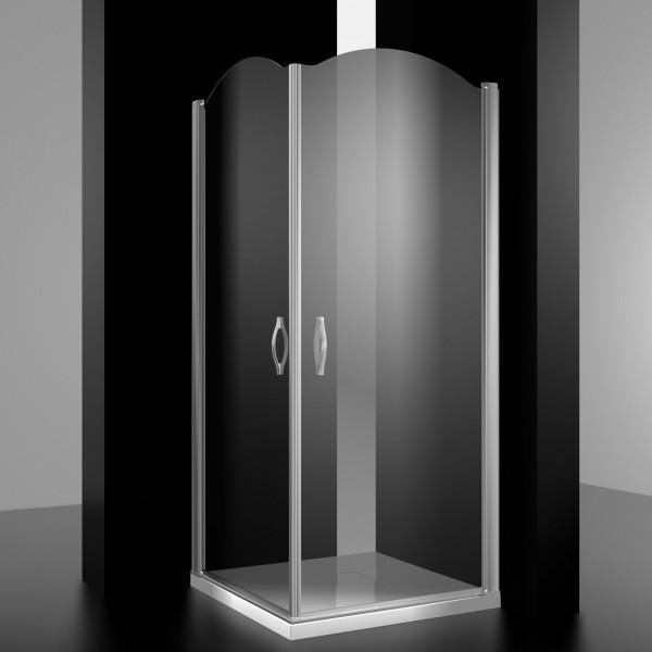 Душевое ограждение STURM Eleganz 1000х1000х1950/2050 прозрачные стекла. Хром LUX-ELEG1010-NTRCR