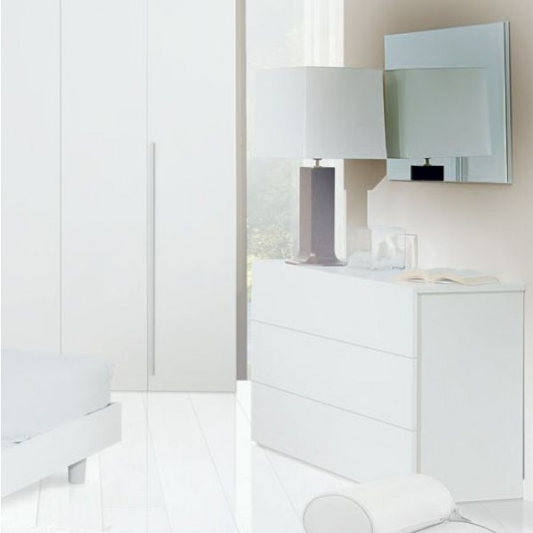 Зеркало STURM Step 850x650x22, цвет белая лиственница ESTE6501