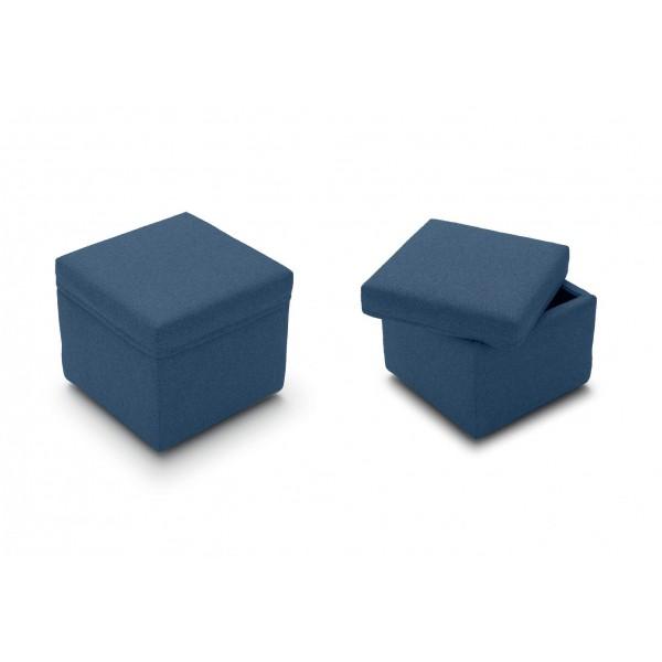 Пуф STURM Rimini с контейнером L52xH46xP52 цвет синий FE/VEN 005906