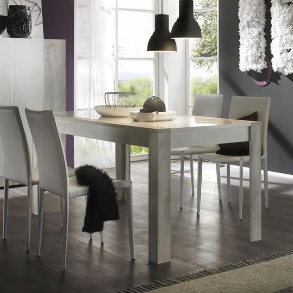 STURM Style стол 1800x900x790 цвет белый глянцевый - белая сосна FSTY18001