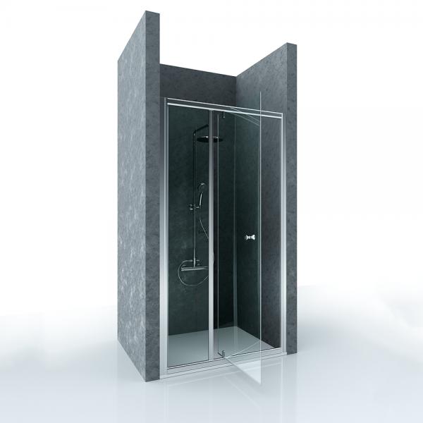 Душевая дверь в нишу STURM Fortuna 1200x1900 прозрачные стекла. Хром ST-FORT12-NTRCR