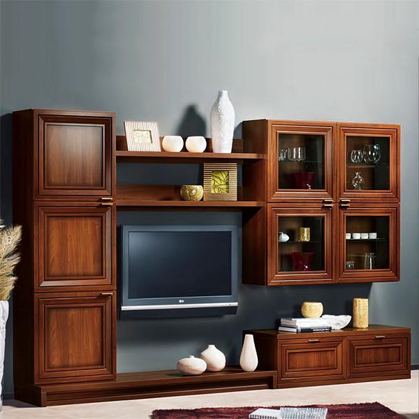 Комплект мебели для гостиной STURM Frame 3000х354/478x1945, темное дерево BFRA30004