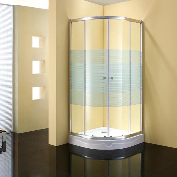 Душевое ограждение STURM Gallery 1000х1000х1900 стекла с белыми полосками. Хром ST-GALL1010-NWSCR