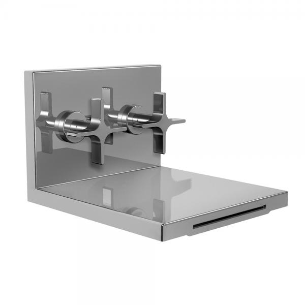 Дизайнерский смеситель-каскад Ritmonio Waterblade настенный H0BA1013H1CRL