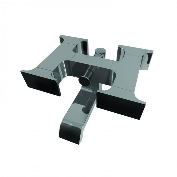 Настенный смеситель для ванны и душа Ritmonio Type-face цвет черный M0BA3030C04