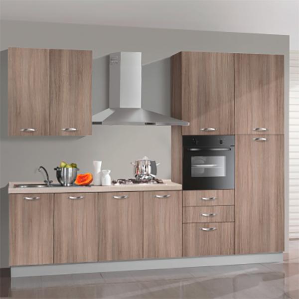 Кухонный комплект STURM Ingrid из 7 предметов, 300x60x240, правый разворот, цвет дуб, AING30005DX