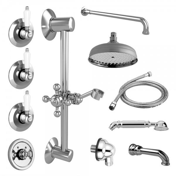 Комплект для ванны STURM EM 13 частей в комплекте хром/белая керамика KIT-EMI-VA721150-CR